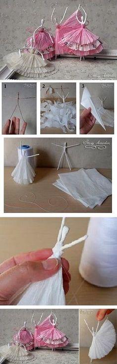 Paper Napkin Ballerinas