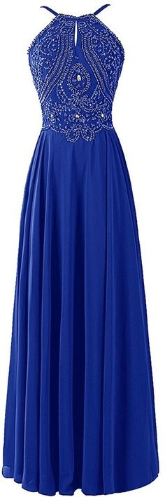 Shop for Dresstells® Chiffon Prom Dress Long Halter Bridesmaid Gown with Beads at ShopStyle. Now for $170–193.
