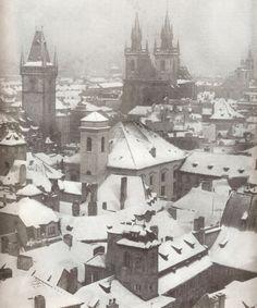 Winter Prague by Hynek Šantl (1970)