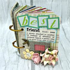 BEST FRIEND A Z Friendship Scrapbook Photo Mini Album ATC To