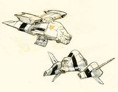 Spaceships by JakeParker.deviantart.com on @deviantART