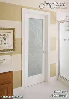 Iris Private Interior Etched Glass Doors