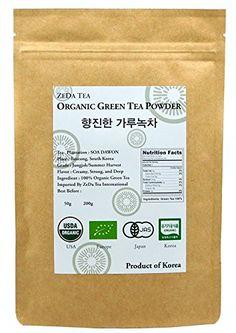 ZEDA Tea - Korean 100% Pure Organic Matcha Green Tea Powder - Deep Flavor 3d2d3228a0842