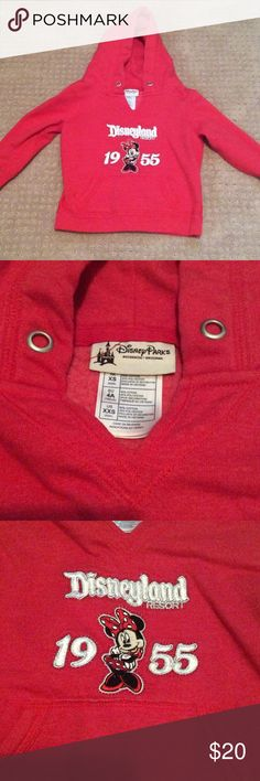 Minnie Mouse sweater Red Minnie mouse Disneyland resort pull over. Purchased at the Disneyland resort only worn a couple of times. Jackets & Coats