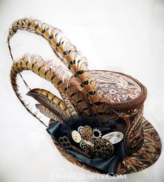 b596685d7f373 Steampunk - Steampunk Hat Mini Top Hat Burning Man Hat Steampunk Wedding  Victorian Wedding Derby Hat