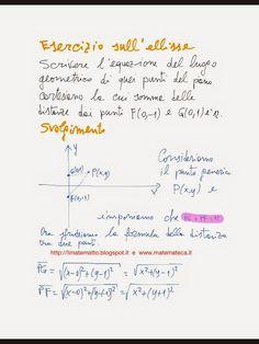 Pubblicato un esercizio svolto sull' ellisse(geometria analitica). Sul blog troverete l' intero svolgimento.