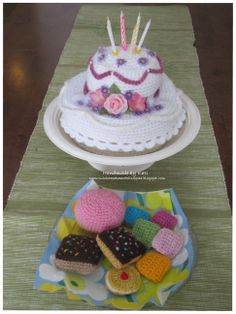 Crochet, DIY, cake, playfood