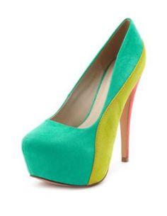 Color block heels :)