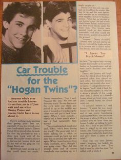 The Hogan Family, Danny Ponce and Jeremy Licht, Full Page Vintage Clipping