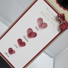 Claudinchens-kreative-Seite: ♥-iger Flaschenanhänger zur Hochzeit
