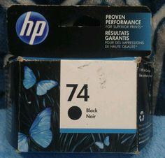 Genuine HP 74 BLACK  Ink Cartridge warranty ends FEB-18      bx015 #HP