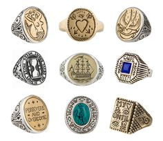 Signet rings by LHN Jewelry