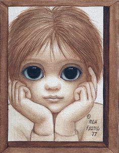 Wonder (1977) Keane Big Eyes, Margaret Keane, Hawaiian Art, Sad Eyes, Sad Pictures, Jehovah's Witnesses, Eye Art, Famous Artists, Drawings