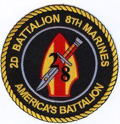 USMC 2d Bn/8th Mar PATCH 2nd Battalion/8th Marines OIF 2/8 America's Battalion!