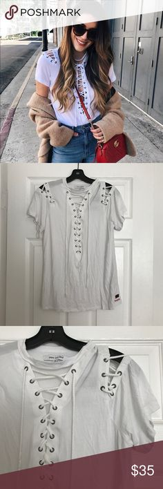 NWT LACE DETAIL TOP Brand new with tags Peace Love World Tops Tees - Short Sleeve
