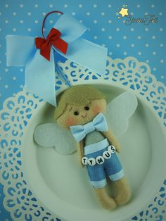 Angel of love and caring  decoration  gift by HandmadeStellaFelt