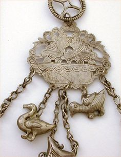 silver chinese opium chatelaine antique