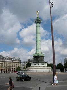 The Place de la Bastille in Paris - France