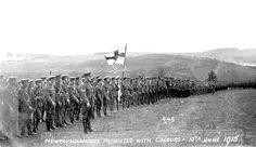 Presentation of Colours, Royal Newfoundland Regiment in the First World War