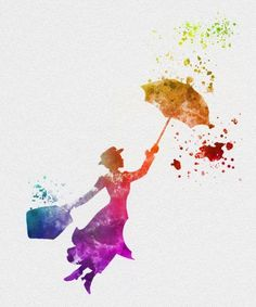 Mary Poppins watercolour