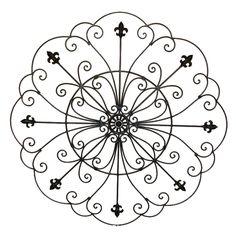 Fleur+De+Lis+Designs   Wrought Iron Fleur de lis Home Decor