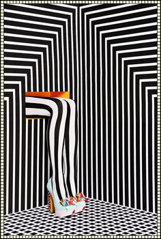 'Optical Trickery' set design by Camille Walala in collaboration with photographer Jess Bonham.