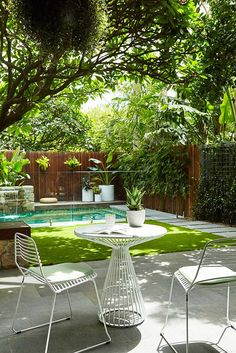If you are working with the best backyard pool landscaping ideas there are lot of choices. You need to look into your budget for backyard landscaping ideas Small Backyard Landscaping, Tropical Landscaping, Landscaping Ideas, Backyard Ideas, Patio Ideas, Tropical Garden, Pool Ideas, Tropical Pool, Pavers Ideas
