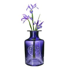 Dartington Crystal Amethyst Flower Bottle