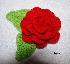 szydełkowe inspiracje: Róża