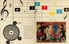 Bradbury Thompson, Eight Graphic Arts Production Yearbook, 1948 Magazine Spreads, Modernism, Diagram, American, Art, Art Background, Modern Architecture, Kunst, Performing Arts