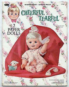 Vintage Whitman/Mattel CHEERFUL TEARFUL paper dolls 1966 cut
