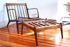 Boston: Danish Mid Century Lounge Chair and Ottoman $150 - http://furnishlyst.com/listings/273626