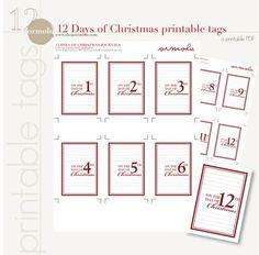 Freebie: 12 Days of Christmas Tags · Scrapbooking   CraftGossip.com