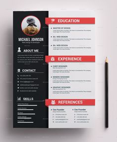 Resume Bundle - Resume Template Ideas of Resume Template - Resume Bundle Creative Cv Template, Creative Resume, Best Cv Template, Word Templates, Design Social, Web Design, Design Ideas, Portfolio Web, Portfolio Professional