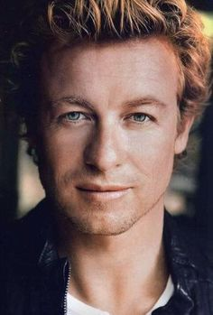Simon Baker, I'm not into blondes in general, but in general I don't kick hot men outta my bed either.
