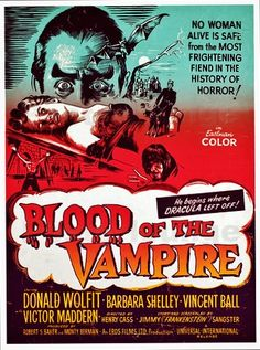 BLOOD OF THE VAMPIRE 1958