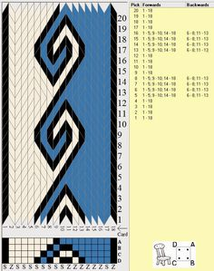 GREAT link for trying out Kivrim tablet weaving pattern - easy to read and under. - GREAT link for trying out Kivrim tablet weaving pattern – easy to read and understand! Weaving : Mastering Widderhorn – Ennea Collective – crafting a fibre life Inkle Weaving Patterns, Weaving Textiles, Loom Weaving, Loom Patterns, Finger Weaving, Inkle Loom, Card Weaving, Art Du Fil, Make Your Own Card