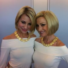 Chelsea Kane and Jane Seymore....after taking the youth tonic Chelsea plays the 30 year younger Jane Seymore.