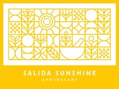 Salida Sunshine Apothecary designed by Jared Jacob. Connect with them on Dribbble; the global community for designers and creative professionals. Sunshine Logo, Art Graphique, Geometric Art, Line Design, Design Reference, Graphic Design Illustration, Graphic Design Inspiration, Banner Design, Packaging Design