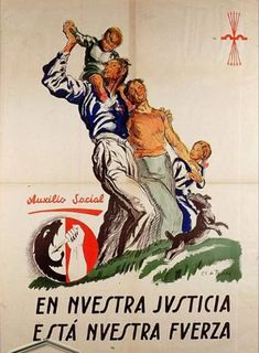 """Our Justice Is Our Strength"" Ww2 Propaganda Posters, Political Posters, Barcelona, Party Poster, Old Ads, Set You Free, Ms Gs, Civilization, Spanish"