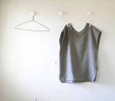 LINEN V TOP / v neck tank / linen t shirt / women / linen tee shirt / linen…
