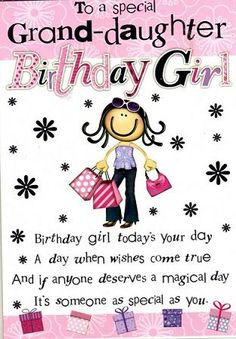 Happy Birthday Grand Daughter Grandaughter Quotes Kids