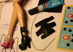 Boot Tutorial - Step 1 (there are 8 steps in total with all the photos in sequence on flickr) These are for Barbies and some of the BJDs