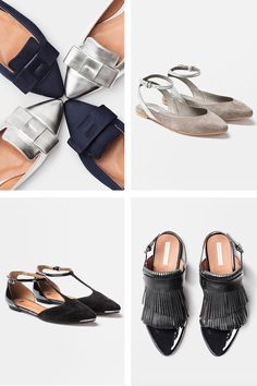 Refined flats with shine & metallic are anything but your simple comfort shoes. | H&M Shoes