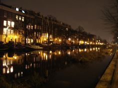 canal, night view
