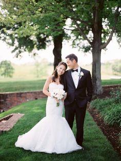 Wedding Dress: Monique Lhuillier - http://www.stylemepretty.com/portfolio/monique-lluhillier Photography: Jeremy Chou Photography - www.jeremychou.com   Read More on SMP: http://www.stylemepretty.com/2016/08/02/a-candy-station-sets-this-outdoor-country-club-wedding-apart/