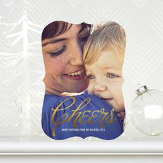 Spread holiday cheer this season with this 'Champagne Sheen' #Holiday Photo Card. #Christmas