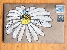 Flower Petals Envelope Address #mailart #snailmail #happymail #funmail #penpal #AlteredEnvelope