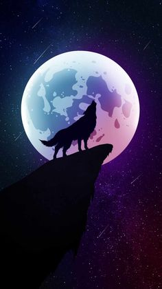 Moon Wolf Howl iPhone Wallpaper - iPhone Wallpapers