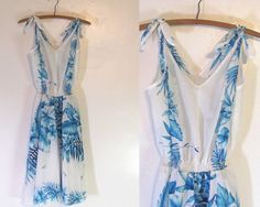 Vintage blue and white Floral Boho summer by dirtybirdiesvintage, $40.00